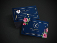 Business Card Design with Floral Touch