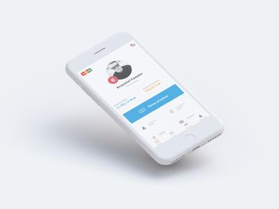 mBank - mobile banking app mobile banking interface ui design mobile design