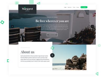Margaret - Hotel & SPA apartments rooms graphic designer ux designer ui designer motel hotel web designer trading ui website web design