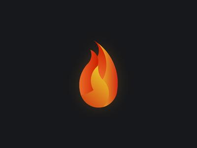 Flame daily creation logo designer ui designer web designer orange red flame logo logo design logo concept