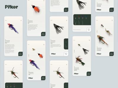 Pilker mobile app concept