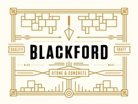 Blackford Stone Sign