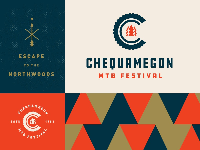 Chequamegon Logo B Side wisconsin identity brand race mountain bike mtb chequamegon