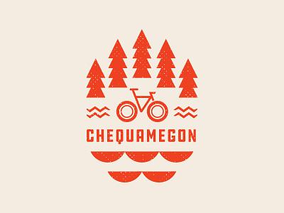 Chequamegon T Graphic trails water mtb bike trees graphic t-shirt race mountainbike chequamegon