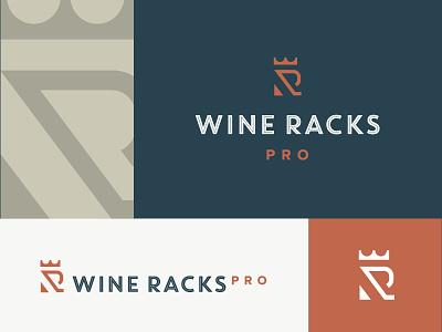 Wine Racks Pro logo - WIP king wine monogram w rack crown