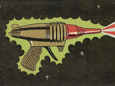 Raygun procreate illustration