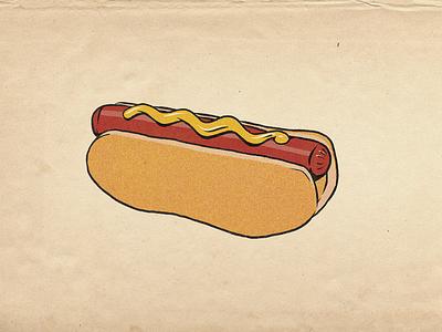 Hotdog procreate illustration