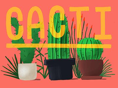 Cacti procreate illustration