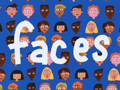Faces procreate illustration