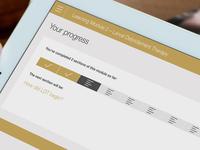 eLearning Progress Screen