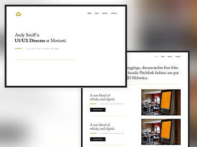 Personal Portfolio of Work and Ideas portfolio gesta caslon ux ui personal branding responsive rwd web web design website