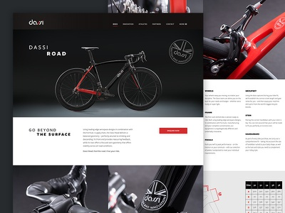 Dassi Road luxury dassi cycling bike mockup visual ux ui rwd web design website