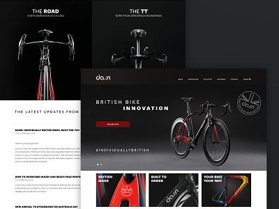 Home of the new British icon - Dassi Bikes luxury british cycling bike bikes dassi home ux ui rwd web design website