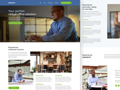 Draft homepage layout office virtual visual ux ui rwd web design website