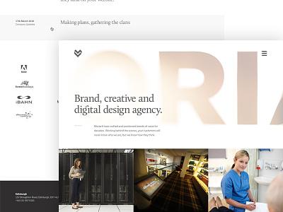 The new look Moriarti blog agency portfolio home moriarti rwd ux ui web design website web