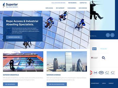Superior Rope Access superior ux ui web design rwd web website identity logo