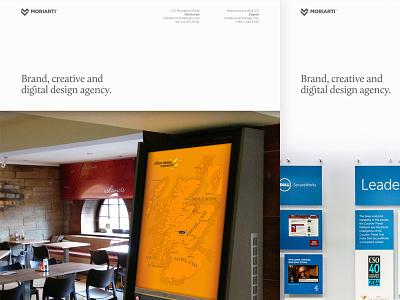 Moriarti's New Look portfolio website web edinburgh agency creative digital ux ui brand moriarti