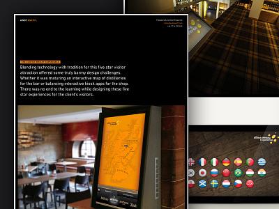 Portfolio Item Layout ux ui scotland whisky map kiosk touchscreen portfolio web website