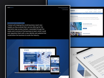 Portfolio Item Layout abseling branding access rope superior ux ui scotland web website