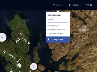 Geopin placement skye geopin location app map ux ui web