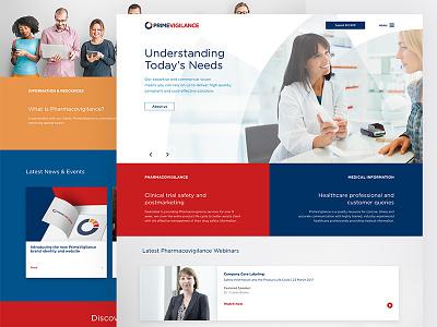 PrimeVigilance branding ux ui responsive web design website