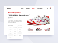 Nike x Supreme Product Page Concept