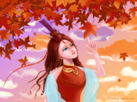 Girls and Maple Leaves