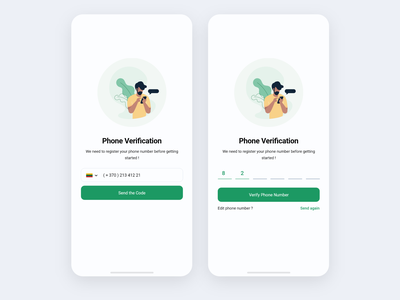 OTP phone verification android uidesign mobile onboarding ux ui ios otp
