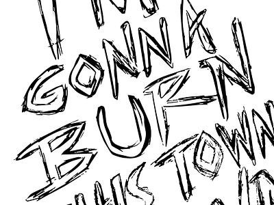 Poster lettering hand lettering bw lettering poster