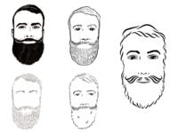 Bearded Lawyer line art