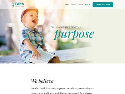 Faith Wireless Marketing Site layout typography marketing site