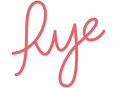 Personal mark hand lettering handwritten script mark logo