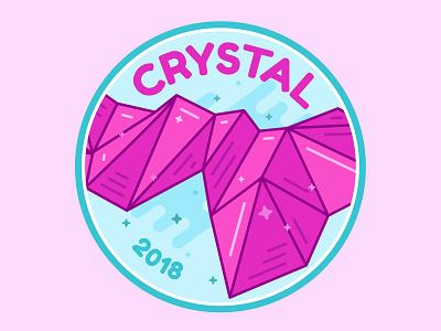 Crystal Mountain Badge snowboarding nature mountain sticker illustration badge