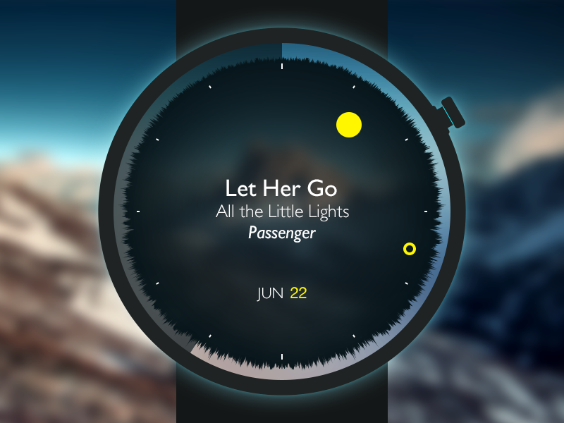 The Watch_Time music watch smart ui ios android play time