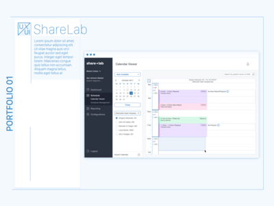 Share Lab Medical Scheduling