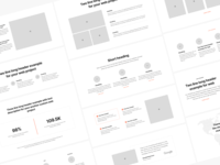 Sections Wireframe Kit adobe xd web design landing page landing theme mobile web flow figma prototyping wireframe ux ui uikit sketch
