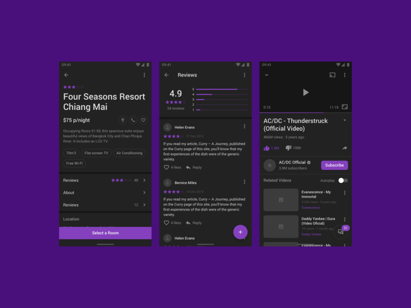 Fragments Android (Dark Mode) app figma mobile android ios prototyping wireframe ux ui uikit sketch