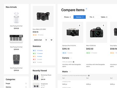 Blocke UI Kit shop ecommerce shop item compare ecommerce design web design web figma prototyping ux wireframe ui uikit sketch