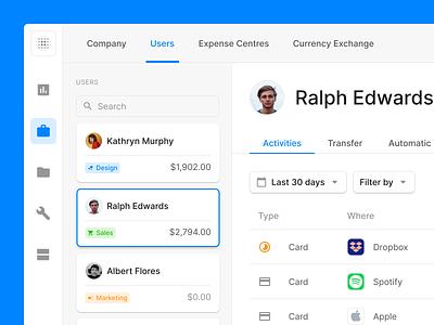 Dashboard UI bank finance fintech table dashboard website webdesign web ux wireframe ui uikit sketch