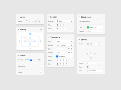 Editor UI Elements dashboard app ux ui webdesign content editor web prototyping figma uikit