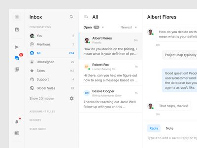 Chat UI mail dashboard social messenger chat webdesign website web figma ui uikit