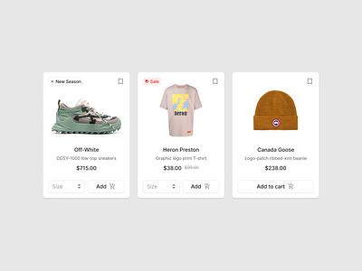 Ecommerce Cards webdesign website designsystem web figma ui uikit sale shop ecommerce