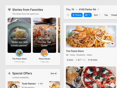 Food Delivery App ux app figma ui uikit mobile food app fastfood restaurant delivery food