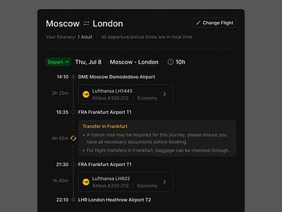 Flight Info (Light & Dark) prototyping wireframe ux figma ui uikit flights flight