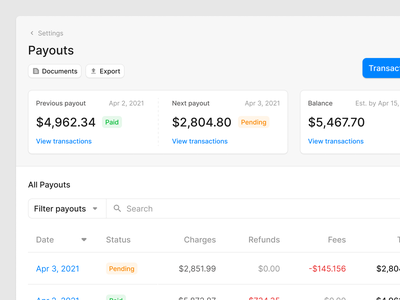 Payouts Page bank wireframe figma ux ui uikit finance payment pay payout payouts