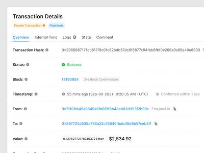 Transaction Details (Light & Dark) ui kit ethereum eth crypto bank money finance transaction prototyping wireframe ux figma ui uikit
