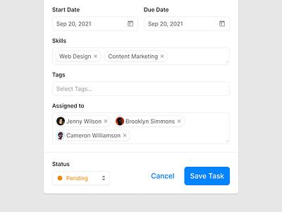 Edit Task (Light & Dark) forms input form edit design prototyping wireframe ux figma ui uikit todo to do task manager task