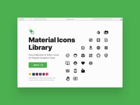 Material Icons Library (Freebie)