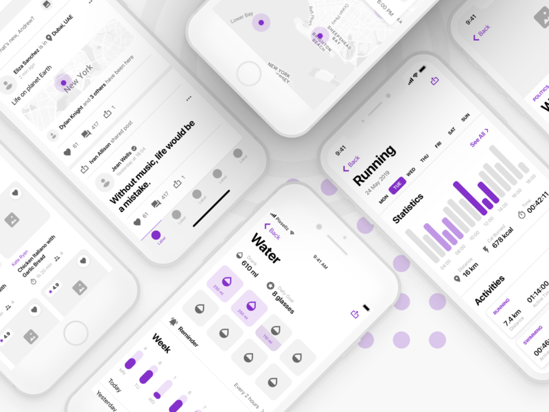 Fragments iOS Wireframe Kit design ios app figma prototyping mobile flow uikit wireframe ux ui sketch
