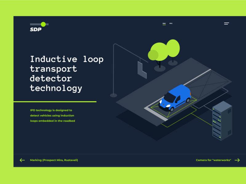 SDP website#2 crossroad road tree car landingpage landing city illustration isometric